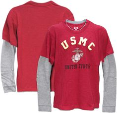 E94829 Rapid Dominance Highlight Double Layer Marines Tee