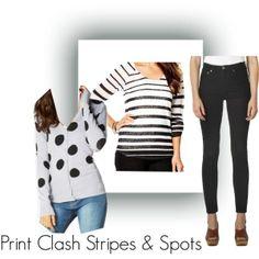 spots and stripes print clash