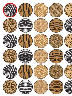 1000 images about edible printable cake toppers on for Animal print edible cake decoration