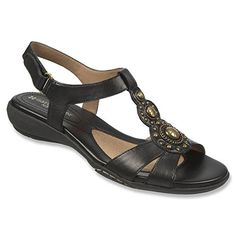 Naturalizer Womens Carlita Sandal Black Leather 95 M *** Read more  at the image link. (This is an Amazon affiliate link)