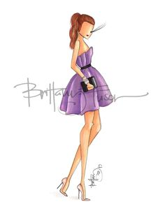 [ prints available here ] Beauty Illustration, Fashion Illustration Sketches, Fashion Sketches, Fashion Art, Girl Fashion, Fashion Design, Ballet Fashion, Dress Fashion, Dress Drawing