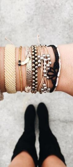 *.* This stack of bracelets is amazing