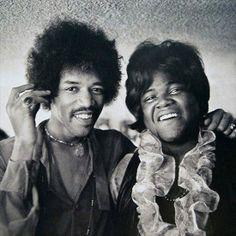 Jimi Hendrix & drummer Buddy Miles...