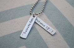 Matthew - Hand Stamped Running Jewelry  Keep Running by SilverWingsDesigns, $35.00