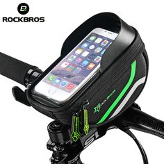 "ROCKBROS 5.5"" Bicycle Bag Cycling Frame Tube Panniers Waterproof Touchscreen Phone Case Reflective With Shade Baffle 5 Colors"
