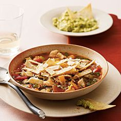Mexican Tortilla Soup | MyRecipes.com #MyPlate #protein #vegetable