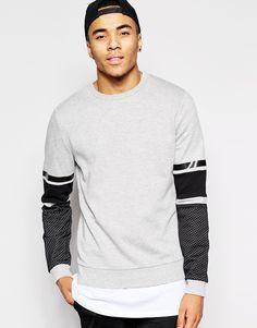 ASOS+Sweatshirt+With+Mesh+Sleeve+Panels