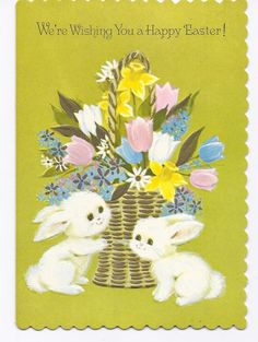 Vintage Unused Easter Greeting Card Rabbit by jarysstuff Easter Greeting Cards, Vintage Greeting Cards, Vintage Easter, Vintage Holiday, Easter Art, Easter Ideas, Jesus Is Risen, Easter Illustration, Old Cards