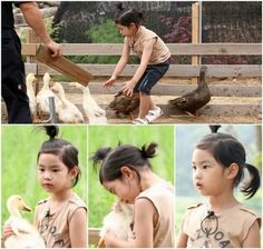 """Rapper Tablo's adorable daughter, Haru, has transformed into a cute duck chaser.  The 36th episode of KBS 2TV's """"Superman Returns"""" was aired on July 20. In this episode Tablo and Haru decided to experience nature by visiting a farm."""