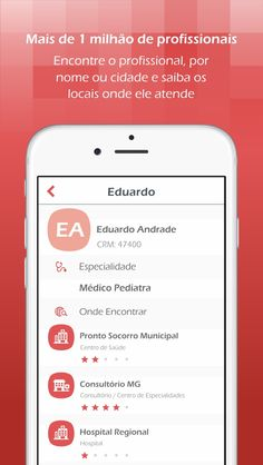 HospitalPlus • ScreenShots • Tela Profissionais • iOS • Design Mobile