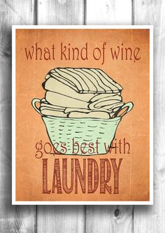 Laundry Room Typographic print digital by HappyLetterShop on Etsy, $22.00