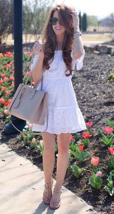 eyelet mini dress. For Everyone. Blog @ #DapperNDame Pinterest. dapperanddame.com