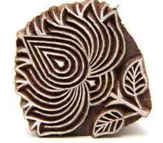 Lotus Flower Indian Wooden Block Stamp Hand Carved for Henna designs