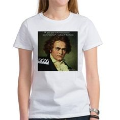 #Beethoven #Womens #Quote #Tshirt by @RLondonDesigns #cafepress #pinterest #music #composers #gift #sale