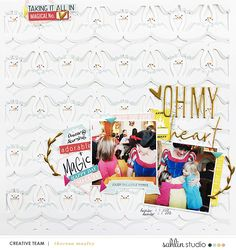 Disney Oh My heart Snow White digital scrapbooking layout using Project Mouse (Vibes) Elements by Britt-ish Designs and Sahlin Studio