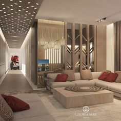 Sejour decor ar moire: living rooms/dens in 2019 home room d Apartment Interior, Home Living Room, Interior Design Living Room, Living Room Decor, Living Area, Living Room Wall Designs, Ceiling Design Living Room, Ramadan Decoration, Drawing Room Interior