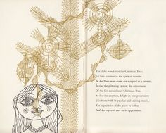"T. S. Eliot's ""The Cultivation of Christmas Trees"": A Rare Vintage Gem, Illustrated by Enrico Arno"