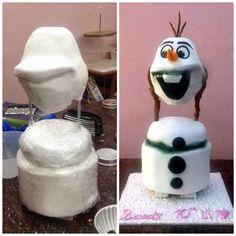 Olaf frozen cake tutorial