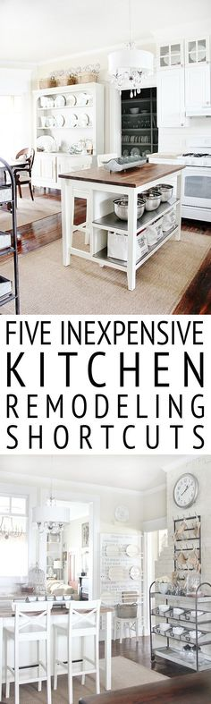 Looking to start a kitchen remodel? It can be a little overwhelming and expensive. Here are five inexpensive kitchen remodeling shortcuts.
