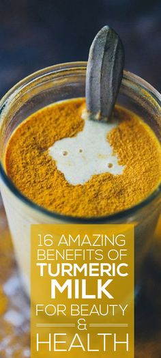 Turmeric milk, not what we would ideally like to drink but its benefits are simply ...
