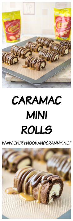 Caramac and Cadbury's Mini Rolls were two of my most fondly remembered childhood sweet treats. A bar of Caramac would be the treat I would collect from my money box and walk to the newsagents Healthy Dessert Recipes, Baking Recipes, Delicious Desserts, Yummy Food, Gluten Free Baking, Gluten Free Desserts, Brownie Recipes, Chocolate Recipes, Caramac
