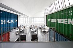 Eye Candy: Shipping Containers Grunge Up Stark Modern Office   Co.Design   business + design