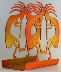 Southwestern Kitchen Decor Metal Kokopelli Napkin Holder