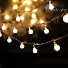 White Round  String Bulbs Battery Decorative Led Lights