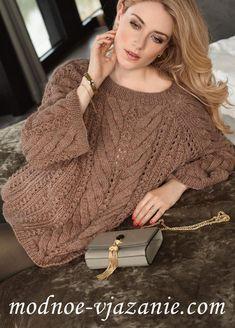 Просторный пуловер реглан