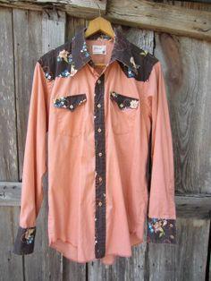 70s Wrangler Western Shirt w/ Floral Yoke by YearsSinceYesterday, €18.00