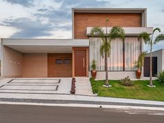 Single Floor House Design, House Front Design, Small House Design, Modern House Design, Future House, My House, Model House Plan, Front Courtyard, Small Modern Home
