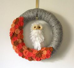 Owl Wreath