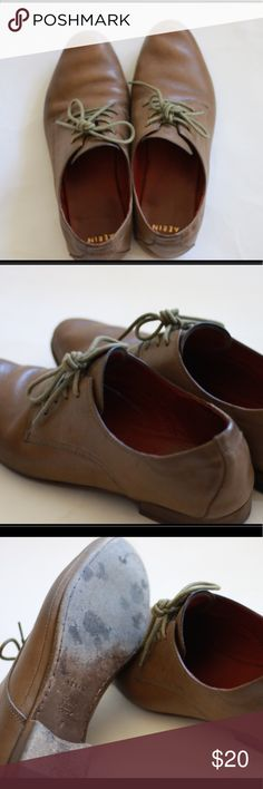 Aerin Oxford flats, size 6.5. Aerin Oxford flats , size 6.5, Olive color . Cow leather Aerin Shoes Flats & Loafers