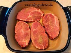 Kasseler-Fleisch in cremiger Sauce - leicht und schnell gekocht Healthy Breakfast Recipes, Bon Appetit, Steak, Food And Drink, Low Carb, Beef, Cheating, Meat, Steaks