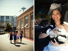 Purple and Blue Seattle Zoo Wedding {Part 1}