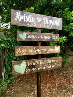 Wedding Seating Sign Wedding Directional Signs by OneCoopedChick