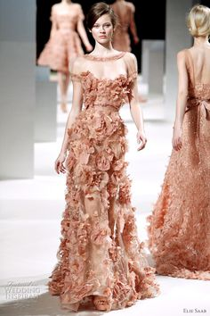 Elie Saab 2011 Glamourous beaded dress with sweetheart neckline.