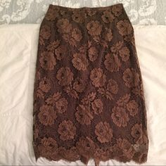 J Crew floral lace pencil skirt DRESSES AND SKIRTS ON SALE FOR $20 DURATION OF PARTY. BUNDLE FOR DEEPER DISCOUNTS! Beautiful lace pencil skirt. I normally wear a 4 in J Crew pencil skirts but this one runs a smidge small so I never wore, sadly. Even though the tag says 4, I have listed this one as a 2 due to the sizing being inconsistent with this brand. J. Crew Skirts Pencil