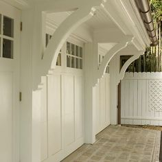 some serious corbels! might be cute even over my wee garage - ---- Decorative Shelf Brackets Design Ideas, Pictures, Remodel, and Decor - page 4