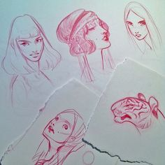 :Illustration:Gallery:Concept: by J.A.W. Cooper: Doodles and Plein Air and Gold Leaf- OH MY!