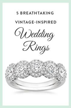If you love the look of vintage wedding rings but want to symbolize your union with a new ring, then browse our collection of vintage-inspired wedding rings.
