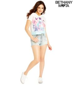 Kittens Crop Graphic T - Summer Bethany Mota Collection