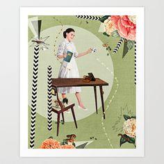 snow white Art Print by Heather Landis - $25.00