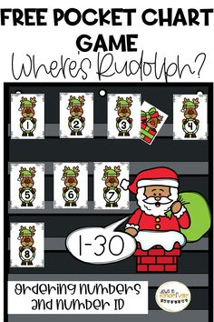 I love using these games for our number sense rout Preschool Special Education, Preschool Themes, Preschool Kindergarten, Christmas Math, Preschool Christmas, Holiday Activities, Preschool Activities, Number Sense, Number Identification