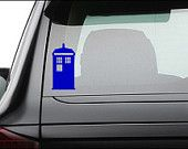 "Doctor Who Tardis Vinyl Decal Sticker 5.0"" x 2.5"""