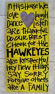 Hawkeye Cheer Board