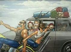 Johnny Smith uploaded this image to 'Harley Davidson/Harley Art'. See t… Johnny Smith uploaded this image to 'Harley Davidson/Harley Art'. See the album on Photobucket. Harley Davidson Kunst, Harley Davidson Motorcycles, Cartoon Images, Cartoon Art, David Mann Art, Biker Quotes, Bobber Motorcycle, Motorcycle Memes, Motorcycle Clubs