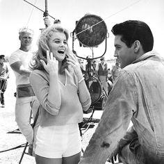 Ann-Margret and Elvis Presley on the set of Viva Las Vegas ('64)
