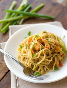 Stir-Fried Noodles with Shrimp and Vegetables {Pancit Canton}