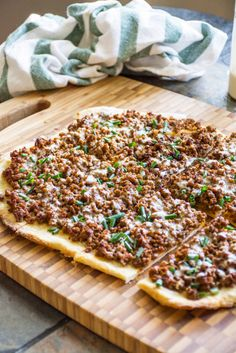 Beef and Blue Cheese Pizza